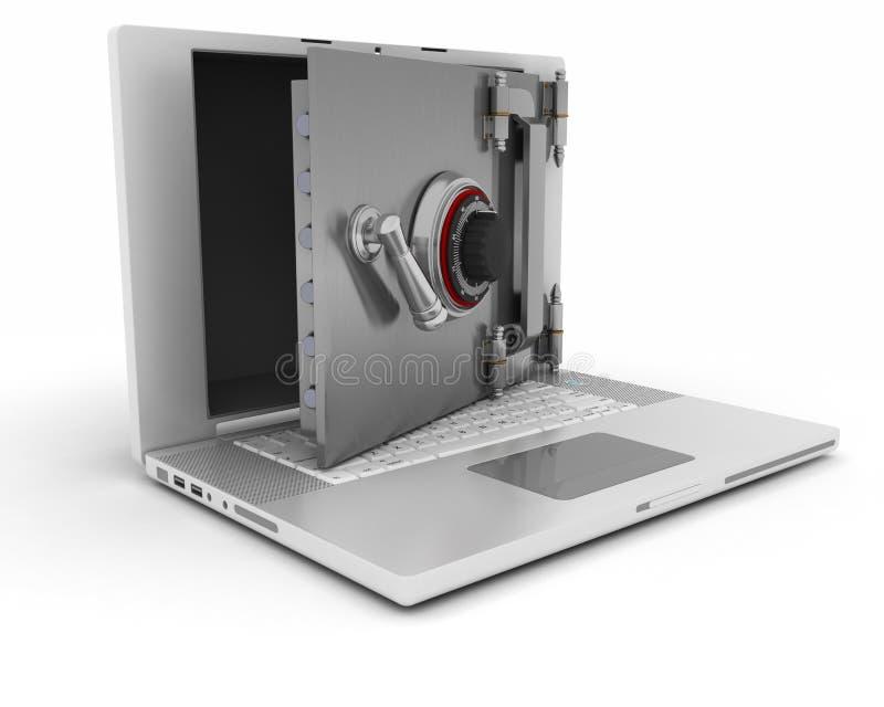 Bezpieczeństwo komputerowe ilustracji