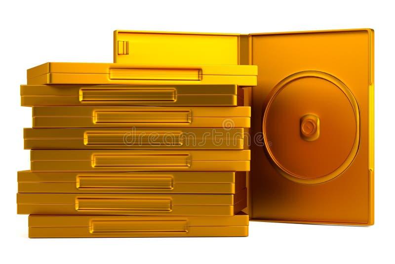 3d odpłacają się DVD skrzynka ilustracja wektor