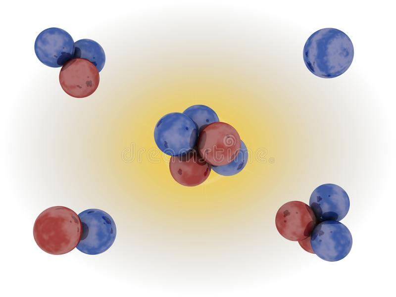 Jądrowa fuzja ilustracja wektor