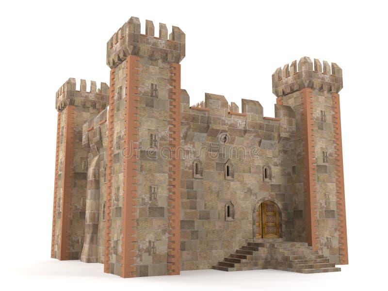 3d odpłacają się kamiennego ceglanego fortecę royalty ilustracja