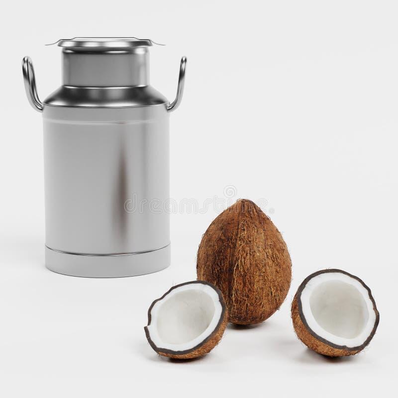 3D Odpłacają się Kokosowy mleko ilustracji