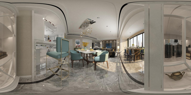 3D odpłacają się nowożytny żywy pokój ilustracja wektor