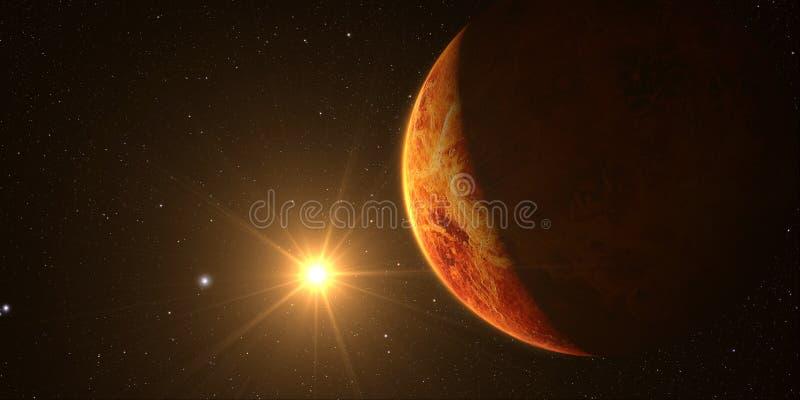 3D odpłacają się planetę Wenus obraz royalty free