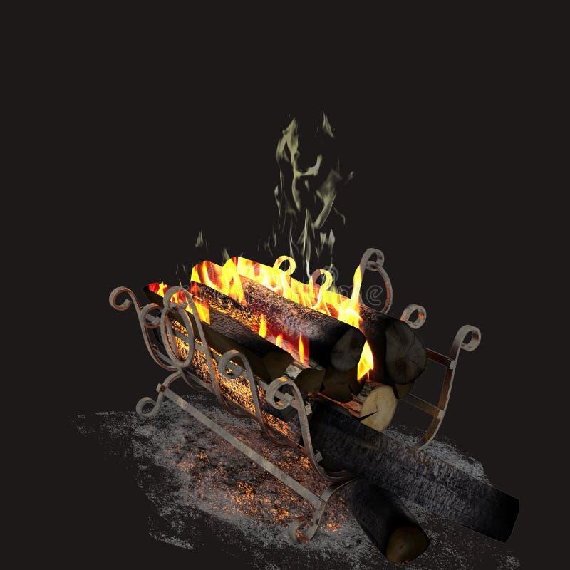 3d odpłacają się pożarniczy drewna ilustracji