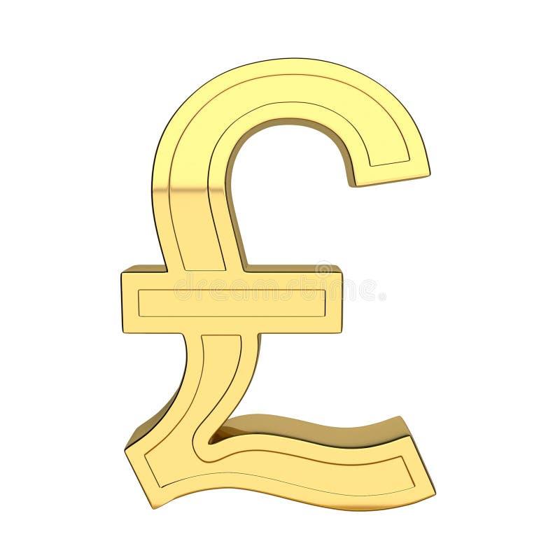 3D odpłacają się waluta symbol, kruszcowy, złocisty kolor, ilustracja wektor