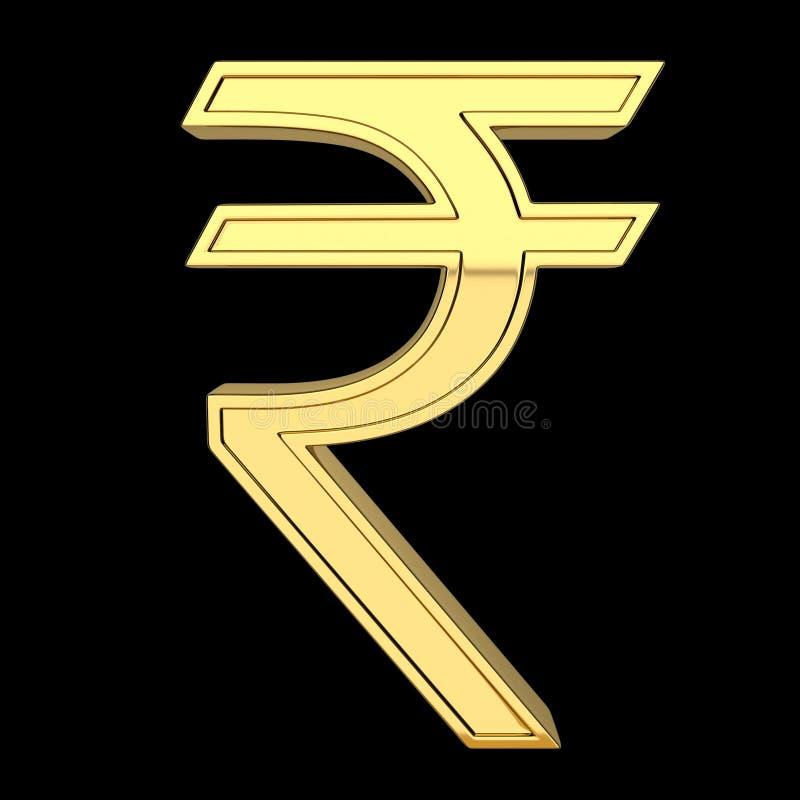 3D odpłacają się waluta symbol, kruszcowy, złocisty kolor, royalty ilustracja