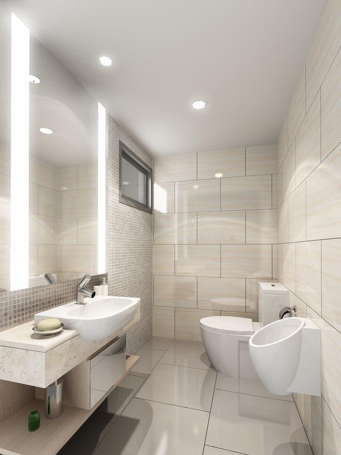 3d odpłacają się wewnętrzna łazienka ilustracji