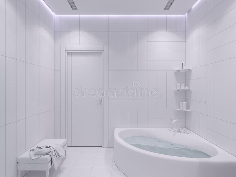 3d odpłacają się wewnętrznego projekt łazienka ilustracja wektor