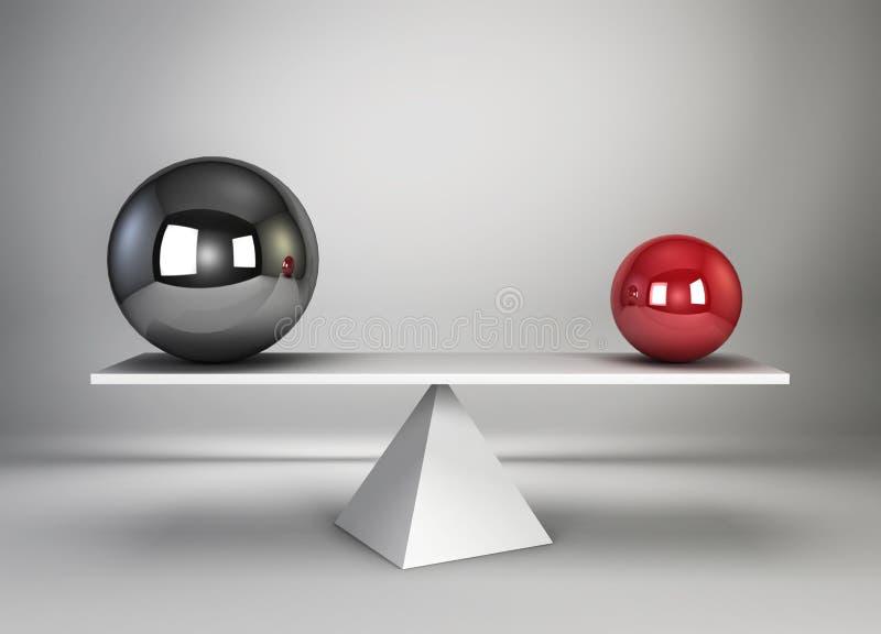 3d odpłacająca się balansowa ilustracja sfery dwa ilustracja wektor