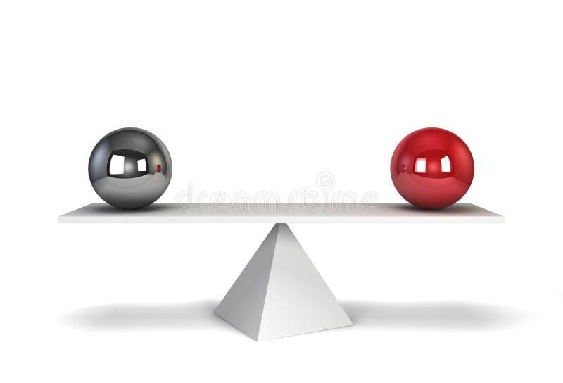 3d odpłacająca się balansowa ilustracja sfery dwa royalty ilustracja
