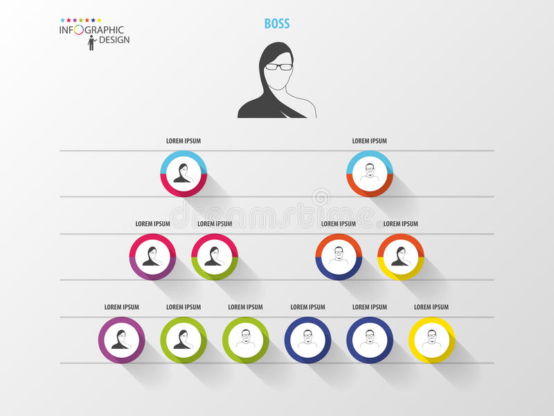 3d odpłacający się biznesowy obrazek struktura Organisation mapa Infographic projekt royalty ilustracja