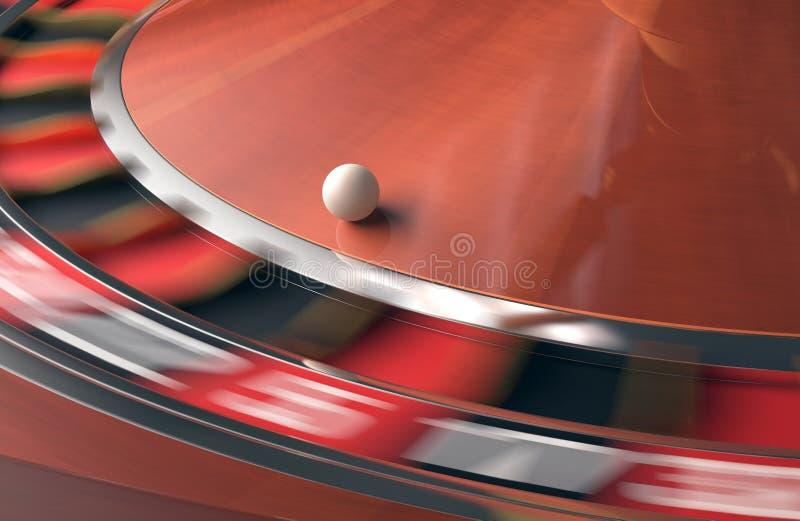 3d odpłacający się kasynowy wizerunek roulette obraz stock