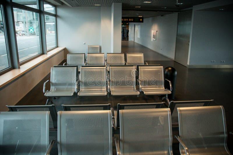 3d odpłacający się lotniskowy wizerunek siedzenia zdjęcia royalty free