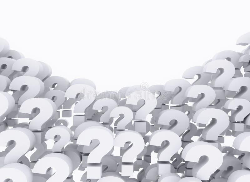 3d odpłacający się oceny ilustracyjny pytanie ilustracji