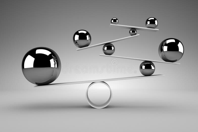 3d odpłacający się pojęcie balansowy obrazek ilustracji