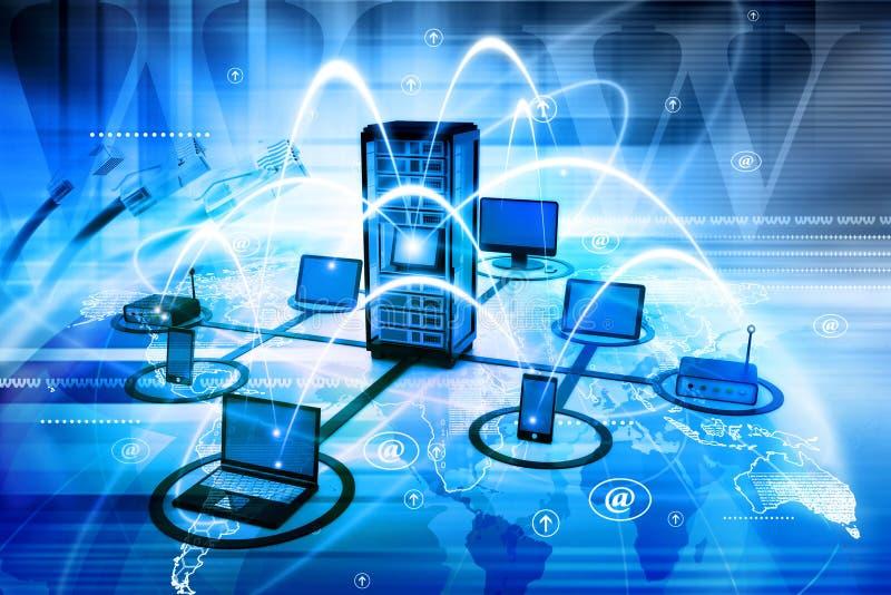 3d odpłacający się sieć komputerowa obrazek ilustracja wektor