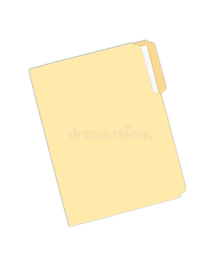 3d odpłacający się skoroszytowy obrazek kolor żółty ilustracja wektor