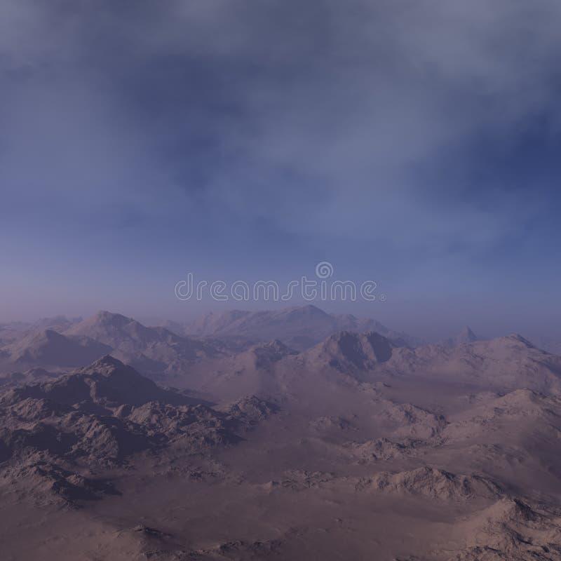 3d odp?acaj?ca si? Astronautyczna sztuka: Obca planeta - fantazja krajobraz ilustracja wektor