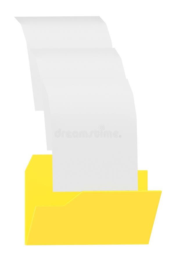 3d omslag, dossiers stock illustratie