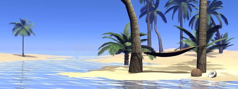 3D ontspanning - geef terug stock illustratie
