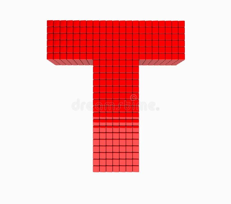 3D ontwerp het Engelse gedenkwaardige alfabet stock foto
