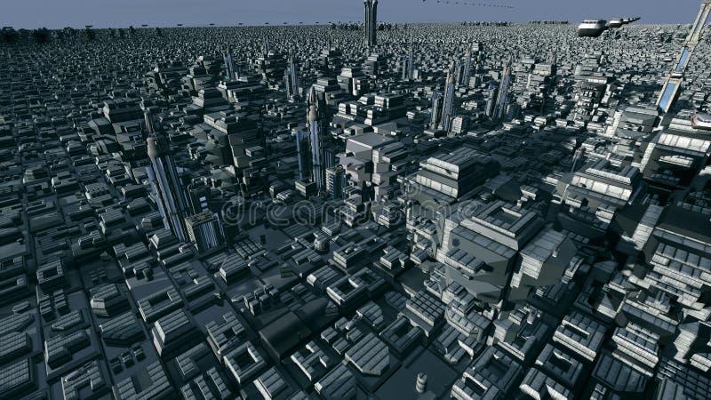 Futuristische planeet vector illustratie