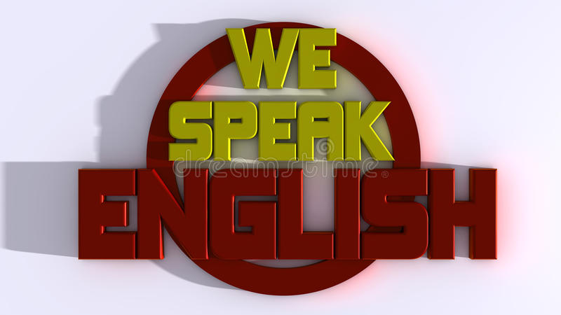 Wij spreken het Engels stock illustratie