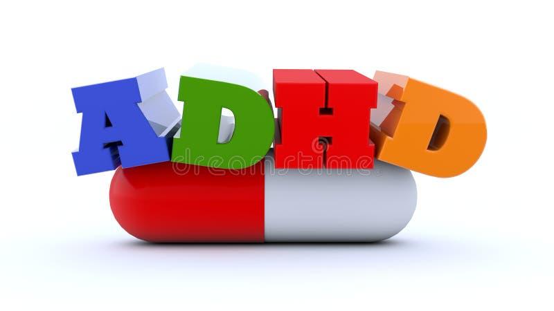 3d oordning för text ADHD royaltyfri illustrationer