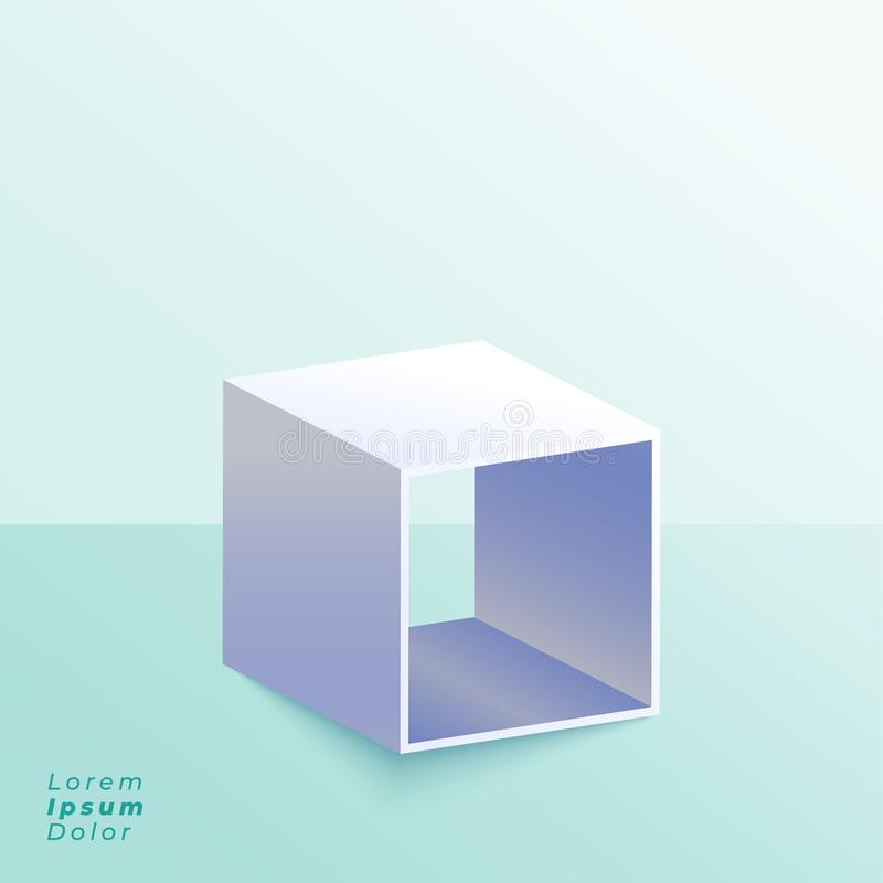 3d open box stand on studio background royalty free illustration