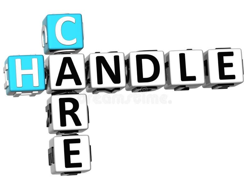 3D opieki rękojeści Crossword ilustracja wektor