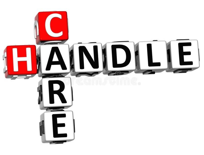 3D opieki rękojeści Crossword ilustracji