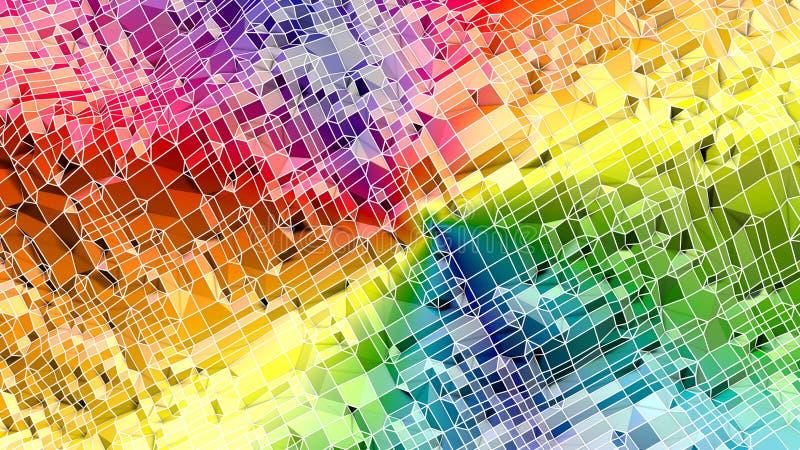 3d oppervlakte als 3d lage poly abstracte geometrische achtergrond met moderne gradiëntkleuren 5 royalty-vrije illustratie