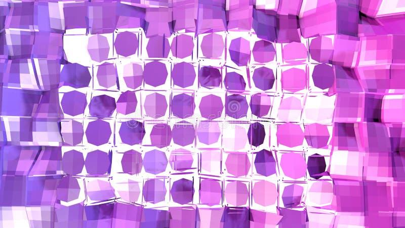 3d oppervlakte als 3d lage poly abstracte geometrische achtergrond met moderne gradiëntkleuren, rood blauw viooltje 67 royalty-vrije illustratie