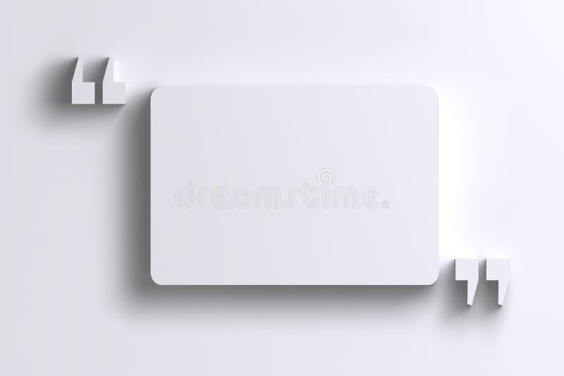 3D opróżniają cedułę - oceny rama na biel ścianie ilustracji