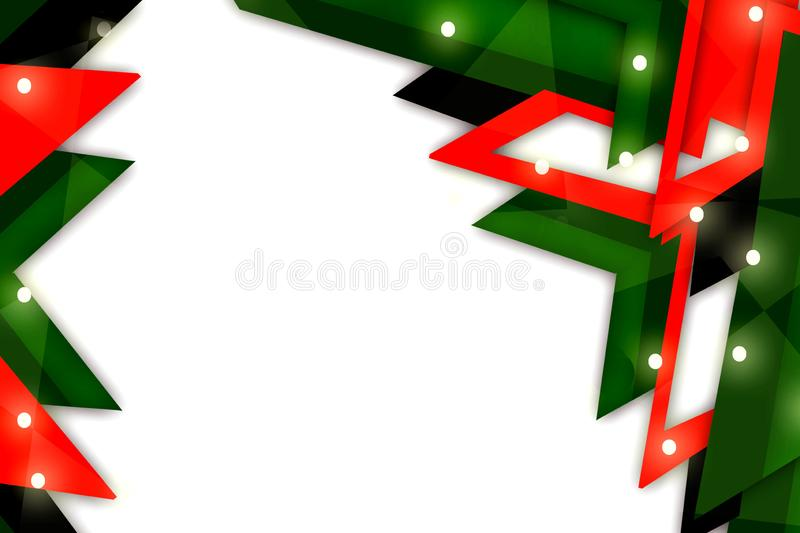 3d orange and green x shape overlap abstract background. Creative background stock illustration