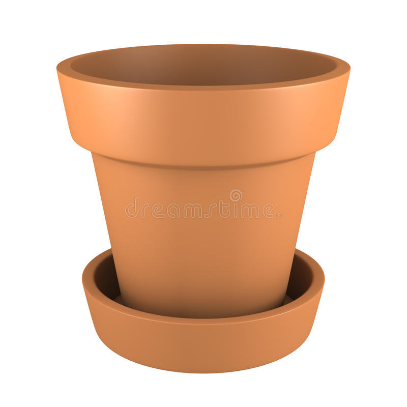 3D Orange Pot royalty free stock images