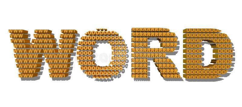 3D oranje kleuren word's tekst met schaduw; binnen omhoog gemaakt van de brieven w O r D Geïsoleerd op wit stock foto's