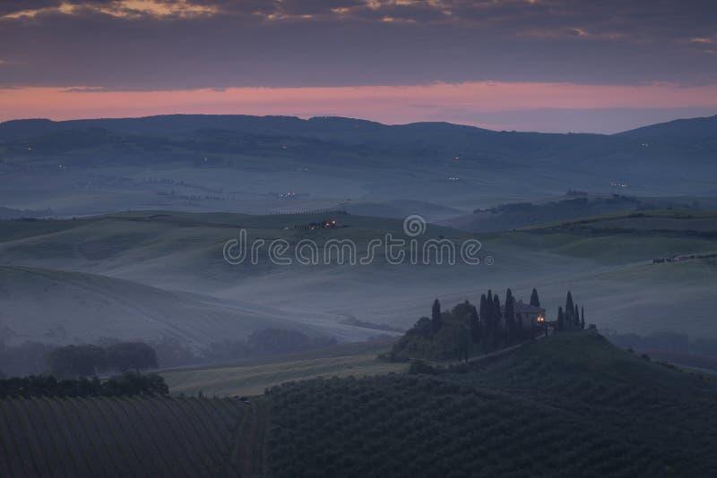 D'Orcia de VAl, Toscane photo stock