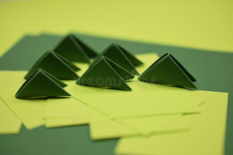 3D origami moduły zdjęcia stock