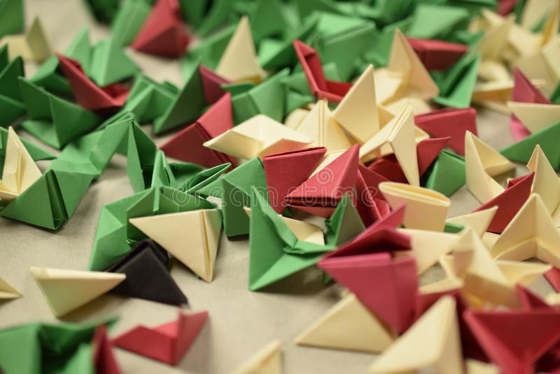 3D Origami - Reste stockbild
