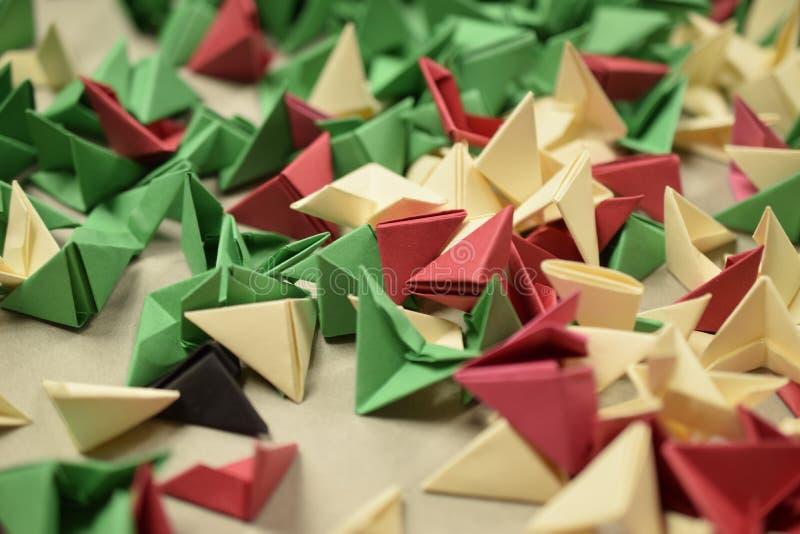 3D origami - resztki obraz stock