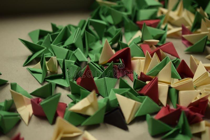 3D origami - resztki fotografia stock