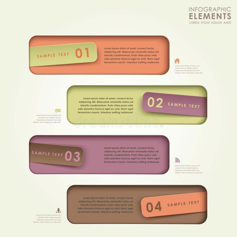 3d origami sztandaru abstrakcjonistyczny infographics ilustracji