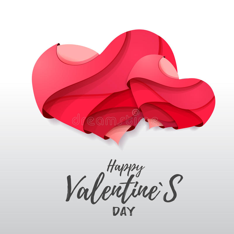3d Origami Valentines Heart Valentines Day Stock Vector