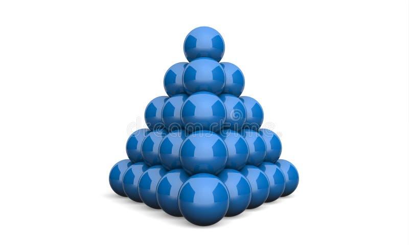 3D ostrosłupa pojęcia Ilustracyjny Balowy błękit 3 ilustracji