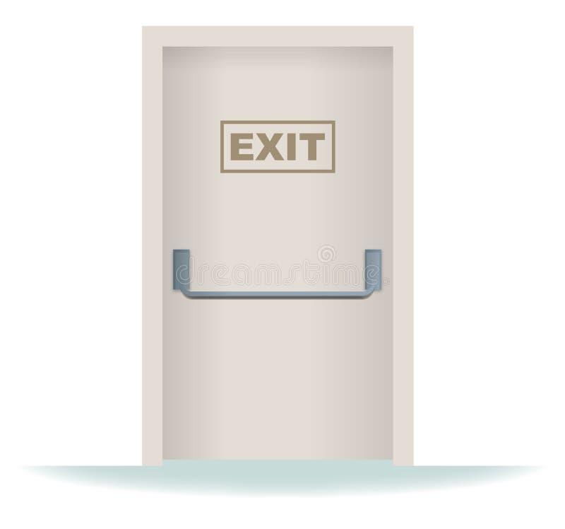 dörrutgång vektor illustrationer