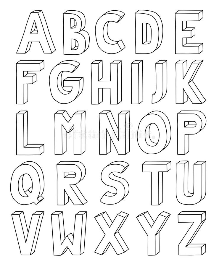 3d outline alphabet from letter a to z in a4 sheet stock vector download 3d outline alphabet from letter a to z in a4 sheet stock vector illustration spiritdancerdesigns Image collections