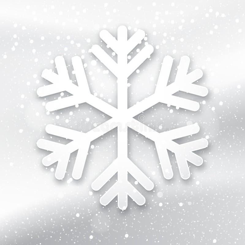 3d płatek śniegu na biały tle ilustracja wektor