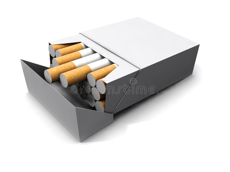 3d Pack of cigarettes royalty free illustration
