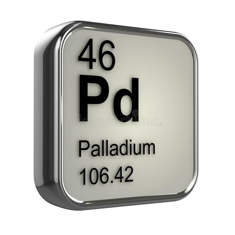 3d Palladium Element Stock Illustration Illustration Of Density